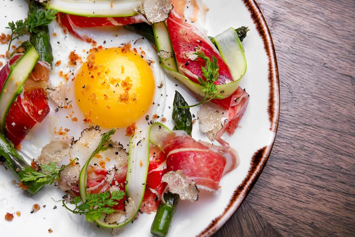 duck egg asparagus food photographer london