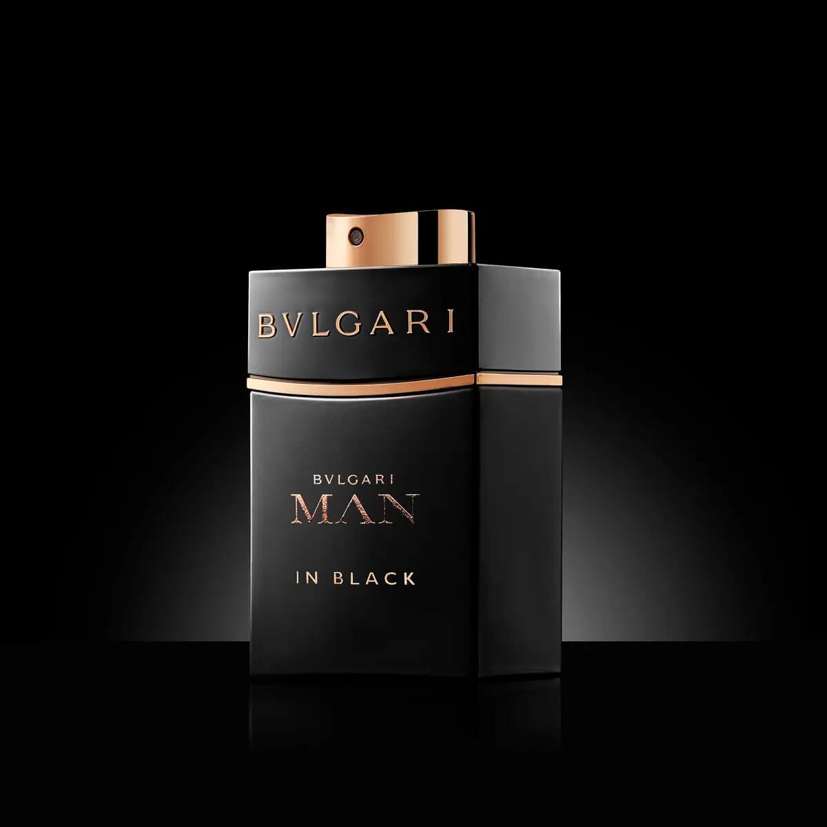 Bvlgari man in black perfume London still life photographer