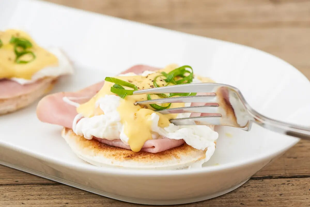 English breakfast eggs benedict food photography London