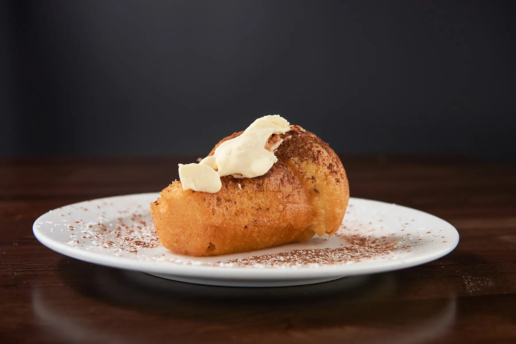 Rum baba food photography London