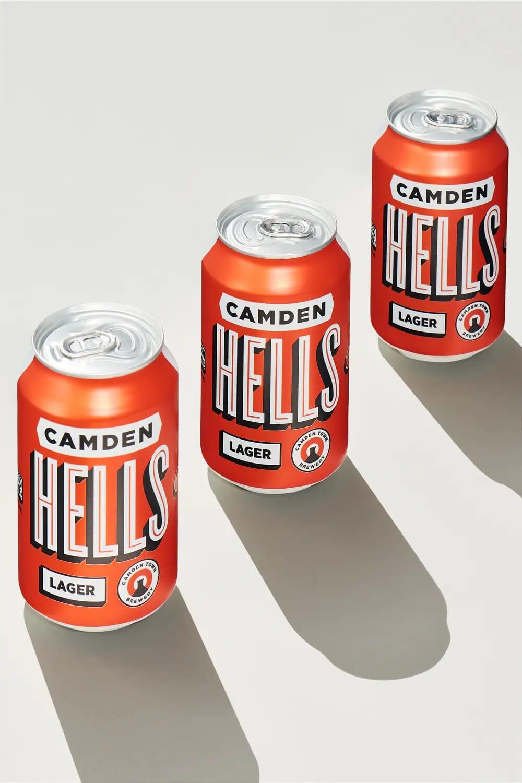 Camden hells lager beer camden town brewery creative still life photographer