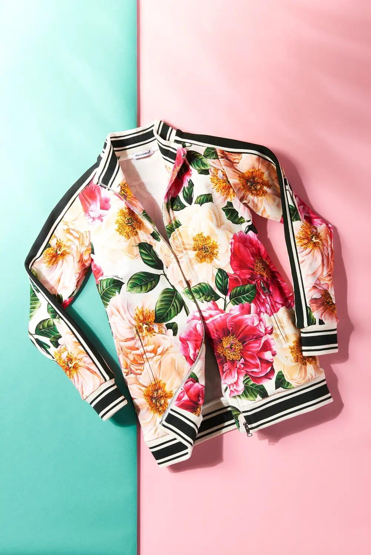 Dolce & Gabbana jacket flowers london still life photographer